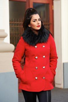 Piros LaDonna Stylish Season Nagykabát
