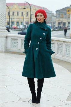 Zöld Cold Season Nagykabát