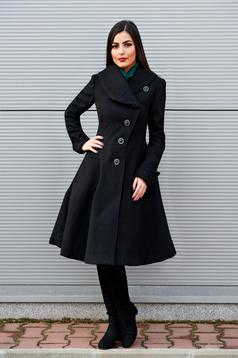 Fekete Cold Season Nagykabát