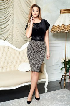 Fekete LaDonna Brilliance Style Ruha
