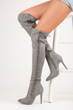 Szürke Classy Heels Csizma