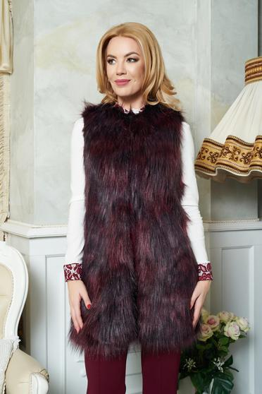 Burgundy LaDonna Winter Design Mellény
