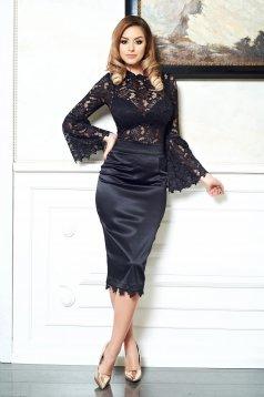 Fekete StarShinerS Hot Elegance Blúz