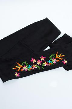 Fekete StarShinerS Embroidered Öv