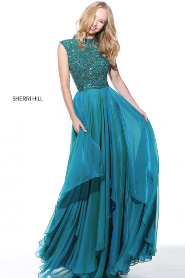 Sherri Hill 50807 Green Ruha