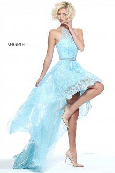 Világoskék Sherri Hill 51226 Ruha