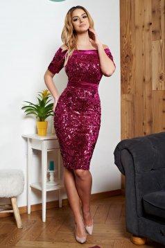 Pink StarShinerS alkalmi ruha övvel ellátva