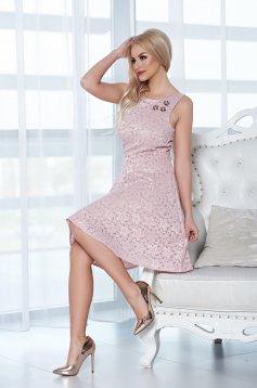 Rózsaszínű StarShinerS ruha csipkés anyagból strassz köves kiegészítővel