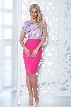 Pink StarShinerS virágmintás fodros ruha