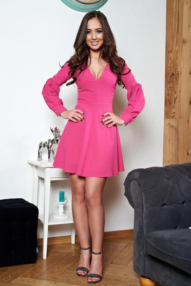 Pink Artista harang alakú ruha v-dekoltázzsal