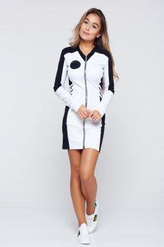 Fekete Ocassion ruha sportos ceruza pamutból készült