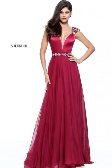 Burgundy Sherri Hill 51137 Ruha