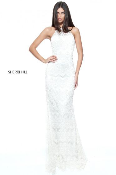 Sherri Hill 51184 Fehér RUha