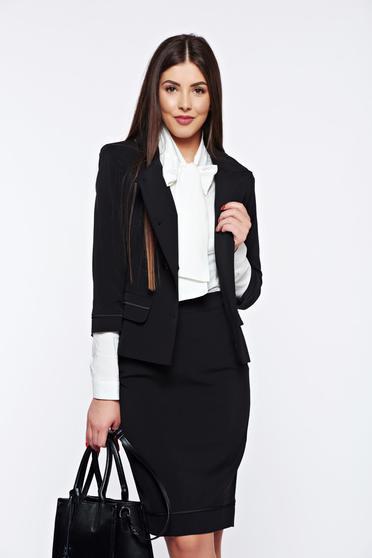 Fekete LaDonna irodai női kosztüm belső béléssel