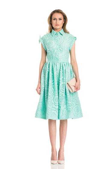 Mint Daniella Cristea rövid ujjú elegáns harang alakú ruha