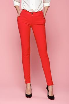 Piros LaDonna Classic Style Nadrág