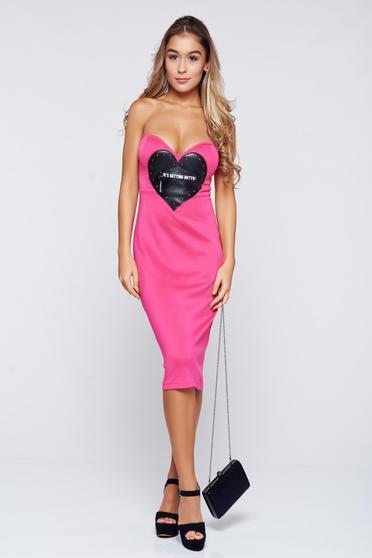 Pink Ocassion ruha hétköznapi ceruza ujjatlan