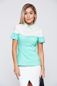 Mint Fofy pamutból készült női ing csipke díszítés