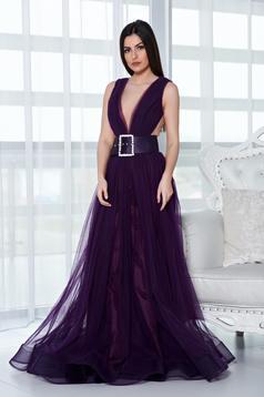 Lila Ana Radu estélyi ruhák ruha övvel ellátva