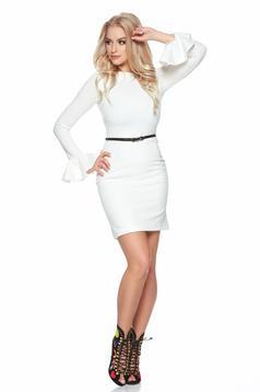 Fehér StarShinerS ruha harang ujjakkal tartozékkal