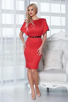 Piros StarShinerS elegáns ruha szatén anyagból