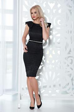 Fekete StarShinerS ruha alkalmi gyöngy díszítéssel