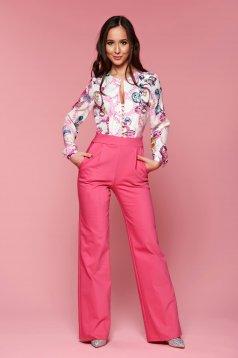 Pink PrettyGirl alkalmi overál grafikai díszítéssel