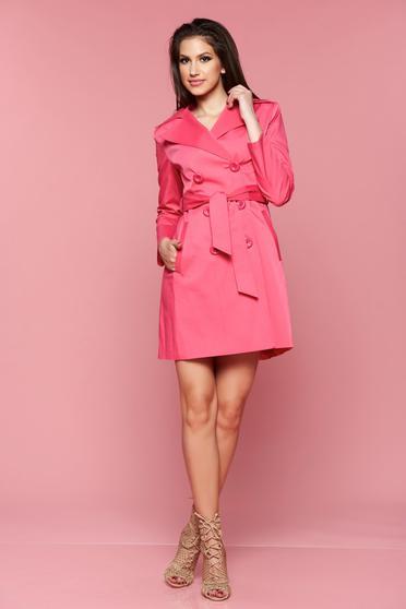 Pink LaDonna hosszú ujjú zsebes ballonkabát