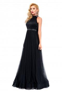 Fekete Ana Radu váll nélküli estélyi ruha