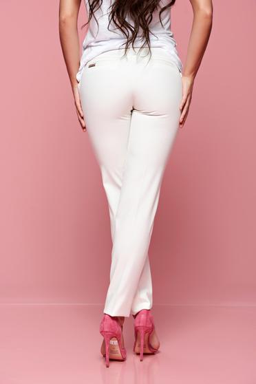 b35afd30cd Fehér PrettyGirl nadrág irodai kónikus zsebes - Nadrágok