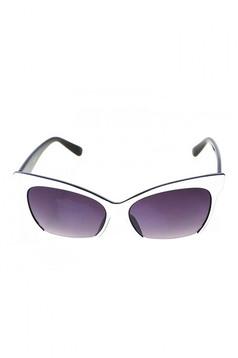 Fehér napszemüveg cat-eye lencse