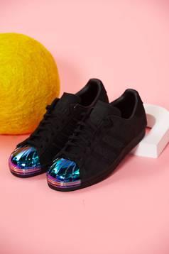 Fekete Adidas sport cipő originals superstar 80s fűzővel köthető meg