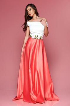 Pink Artista hosszú ruha hímzett betétekkel