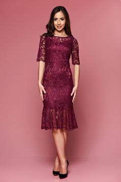 Lila PrettyGirl ruha csipkés anyagból elegáns