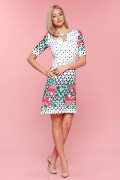 Rózsaszínű LaDonna bő szabás grafikai mintával ruha