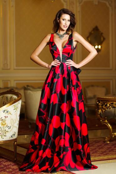 Fekete Artista ruha elegáns hosszú dekoltázzsal