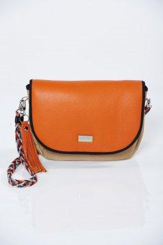 Narancs táska fémes kiegészítő