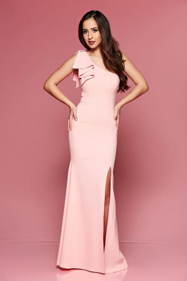 Barackvirágszínű LaDonna hosszú egy vállas alkalmi ruha 84ea550acf
