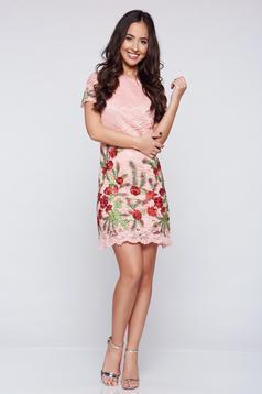 Pink Artista hímzett ruha csipkés anyagból