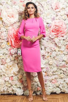 Elegáns pink PrettyGirl ceruza ruha harang ujjakkal