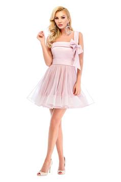 Rózsaszínű Ana Radu ruha tűll szatén anyagból
