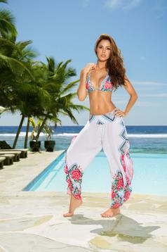 Fehér Cosita Linda strandi nadrág bő szabás lenge anyagból