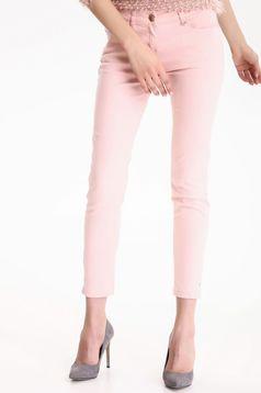Rózsaszínű Top Secret zsebes kónikus nadrág alacsony derekú