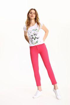 Pink Top Secret zsebes kónikus nadrág alacsony derekú