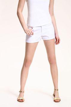 Fehér Top Secret zsebes hétköznapi rövidnadrág