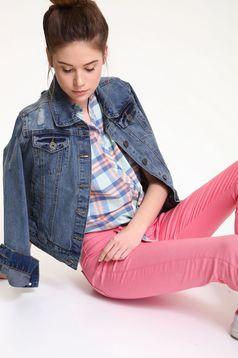 Pink Top Secret alacsony derekú kónikus zsebes nadrág
