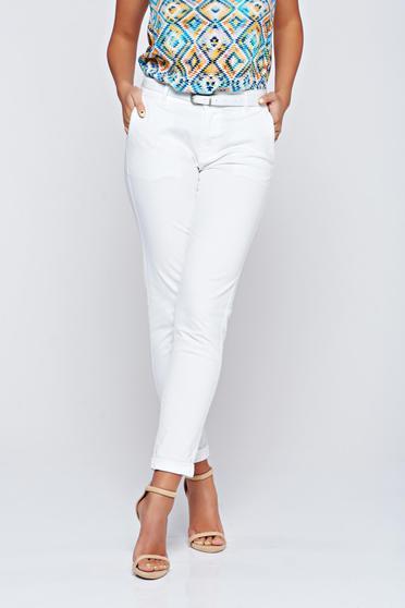 Fehér Top Secret kónikus zsebes nadrág