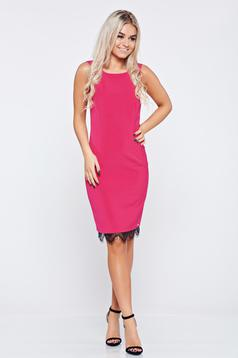 Pink Top Secret elegáns ujjatlan midi ruha