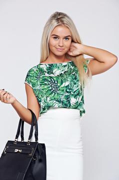 Fehér Top Secret hétköznapi virágmintás póló