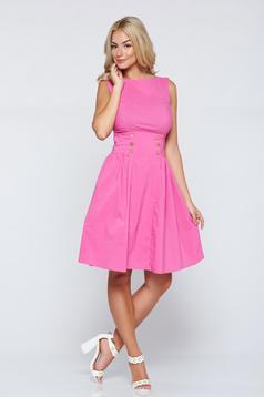 Pink PrettyGirl hétköznapi a-vonalú ujjatlan ruha